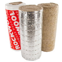 Фото ROCKWOOL ALU 1 WIRED MAT 105 - 25мм EI 60